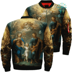 Trio On Earth Over Print Jacket %tag familyloves.com