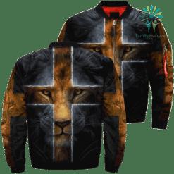 Lion God Over Print Jacket %tag familyloves.com