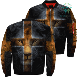 Lion God Over Print Jacket %tag familyloves.com