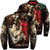 familyloves.com The Mother Of God Over Print Jacket %tag