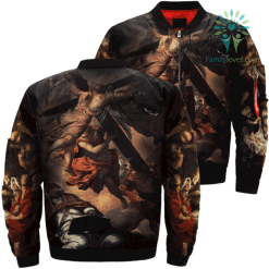 Saint Peter's Vision Over Print Jacket %tag familyloves.com