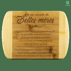 familyloves.com À LA PLUS ADORABLE DES BELLES-MÈRES PLANCHE À DÉCOUPER EN BAMBOU %tag
