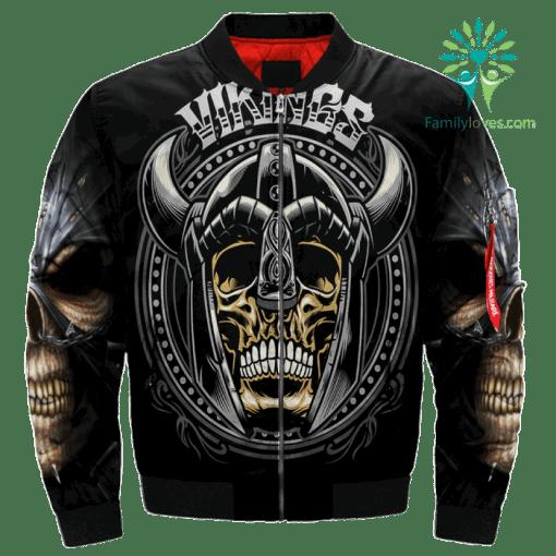 Vikings Skull Over Print Jacket %tag familyloves.com