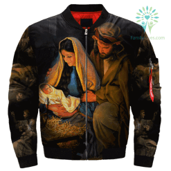 familyloves.com Mary Mother And Jesus Over Print Jacket %tag