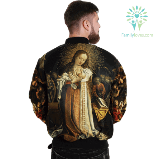 The Mother Of God Over Print Jacket %tag familyloves.com