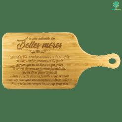 À LA PLUS ADORABLE DES BELLES-MÈRES PLANCHE À DÉCOUPER EN BAMBOU 2 %tag familyloves.com