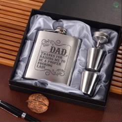 Thanks for raising me to be a proper fucking lady Portable Stainless Steel Boxed Laser Engraving %tag familyloves.com