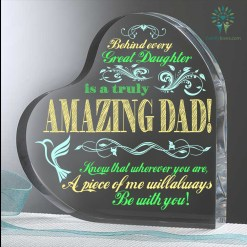 Behind Every Great Daughter Is A Truly Amazing Dad! Heart Keepsake %tag familyloves.com
