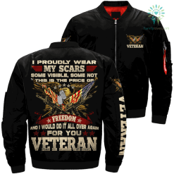 I proudly wear my scars some visible... veteran over print jacket %tag familyloves.com