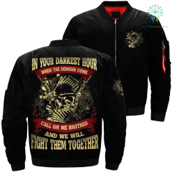 In your darkest hour when the demons come call on me brother and we will fight them together Over Print Jacket %tag familyloves.com
