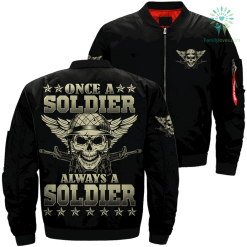 Once a soldier always a soldier Over Print Jacket %tag familyloves.com