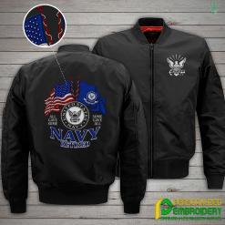 familyloves.com U.S Navy Retired Embroidery Jacket %tag