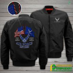 familyloves.com U.S Air Force Retired Embroidery Jacket %tag