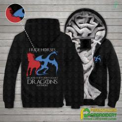 familyloves.com I Ride Horses Because They Don't make Dragons Anymore Embroidery Hoodies %tag