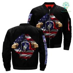 U.S 173rd AirBorne Hero Of America Over Print Jacket %tag familyloves.com
