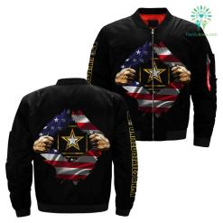 US Army Hero Of America Over Print Jacket %tag familyloves.com