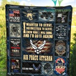 I wanted to serve. I volunteered to serve... Air Force Veteran quilts 1 %tag familyloves.com