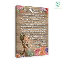 Mom for all the times that I forgot to thank you Canvas gifts for mom %tag familyloves.com