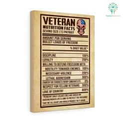 Veteran Nutrition Facts Seving Size [1] Patriot Canvas %tag familyloves.com