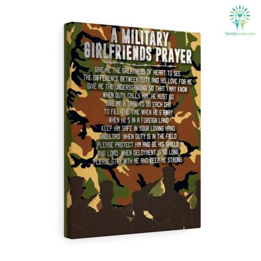 A Military Girlfriends Prayer Canvas %tag familyloves.com