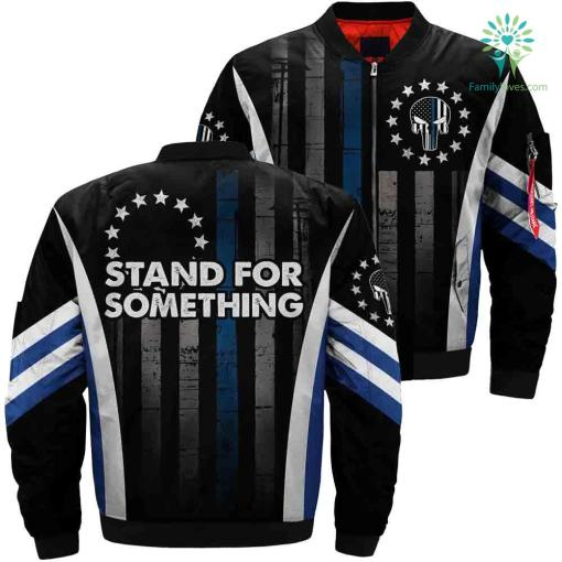 Stand For Something Over Print Jacket %tag familyloves.com