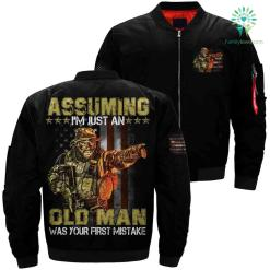 Assuming I'm just an old man was your first mistake Over Print Jacket %tag familyloves.com