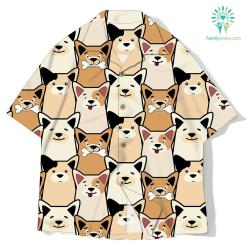 Animal seamless dog pattern pug cartoon shirt %tag familyloves.com