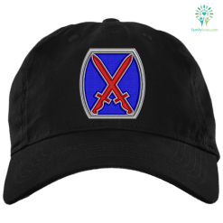 U.S. Army '10th Mountain Division' 2½ Military Patch Embroidery Dad Cap %tag familyloves.com