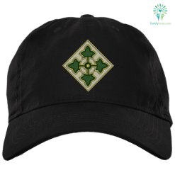 U.S. Army 4th Infantry Division 2 Military Patch Embroidery Dad Cap %tag familyloves.com