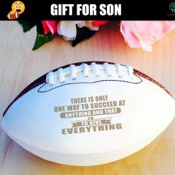 There is only one way to succeed at anything and that is to give everything autograph football autograph football %tag familyloves.com