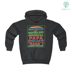 Better Run For Your Life - Papa And Nana's Are Coming Youth Hoodie %tag familyloves.com