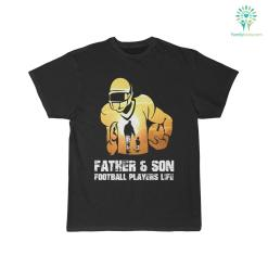 Father & Son Football Players Life Shirt %tag familyloves.com