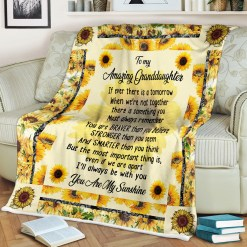 To My Amazing Granddaughter Sherpa Fleece Blanket %tag familyloves.com