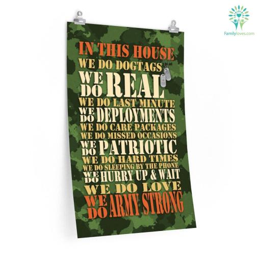 In This House We Do Dog Tags Army Strong Military Posters %tag familyloves.com
