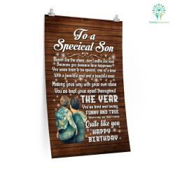 To A Specical Son Reach For The Stars Don't Settle For Less Posters Gifts Letter To My Son From Mom %tag familyloves.com