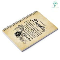 To My Beautiful Daughter I Love You Notebook Gift %tag familyloves.com