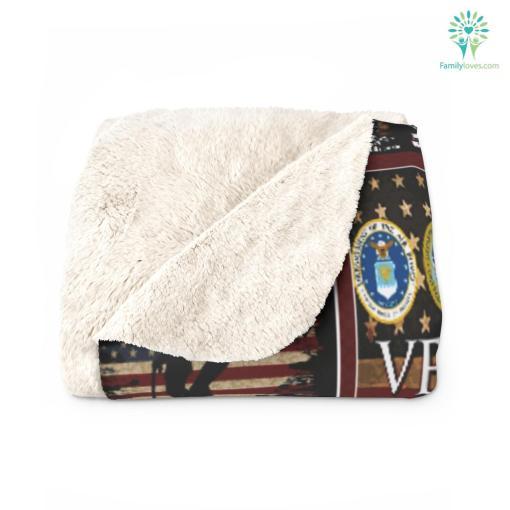Gift ideas for veterans day, I am a veteran dad Sherpa Fleece Blanket %tag familyloves.com