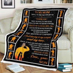 To My Mom Sherpa Fleece Blanket Gift %tag familyloves.com