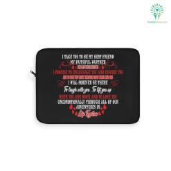 I Take You To Be My Best Friend Custom Photo Laptop Sleeve Gift 0.91 black dimensions inner inner dimensions laptop polyester sleeve %tag familyloves.com