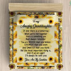 For My Granddaughter Duvet Cover Gift %tag familyloves.com