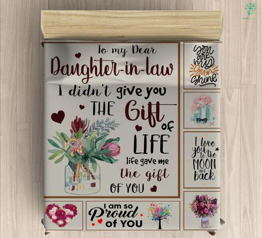 To My Dear Daughter-in-law Duvet Cover Gift %tag familyloves.com