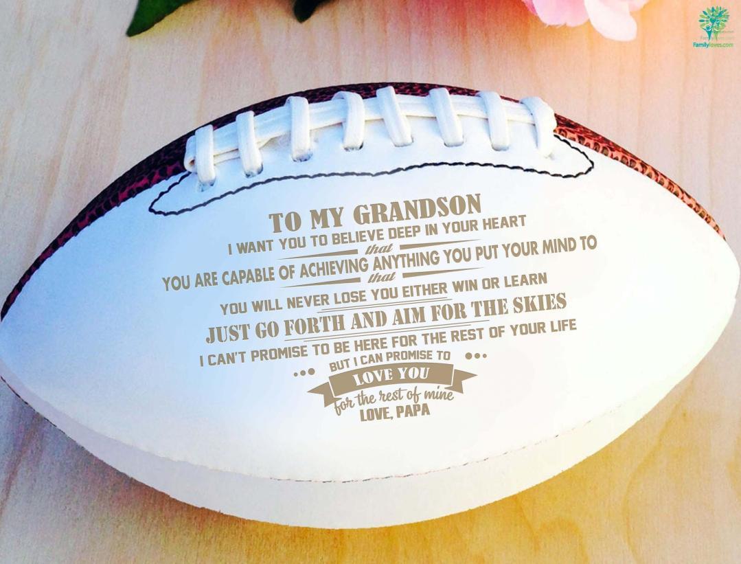 To my grandson love papa football...Full Size 14 Inche %tag familyloves.com