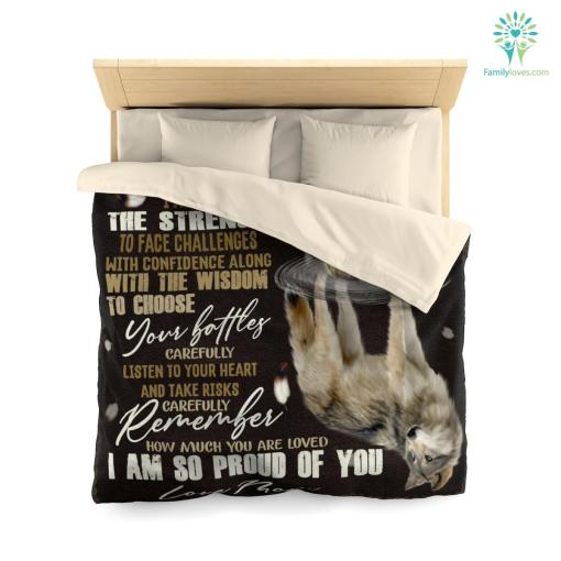 To My Son Microfiber Duvet Cover Gift %tag familyloves.com