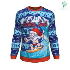 Jingle Bells Surfing Swells UGLY CHRISTMAS SWEATER %tag familyloves.com