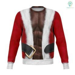 Fitness Santa - Athletic Sweatshirt %tag familyloves.com