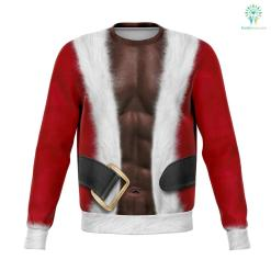 Fitness Santa - Athletic Sweatshirt %tag familyloves.com