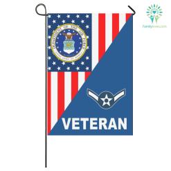 US AIRFORCE RANK AIR FORCE VETERAN MILITARY GARDEN FLAG %tag familyloves.com