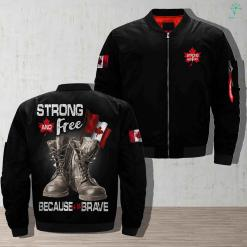 Canadian veteran - strong and free because of the brave jacket armed forces army canadian canadian veteran canadian veterans find gift gifts jacket life military personalized platform present products quality service shipping veteran work %tag familyloves.com
