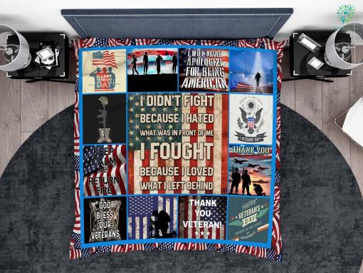 U.S. veterans assistance foundation microfiber duvet cover pillow bedding sheet %tag familyloves.com