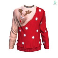 Xmas Funny Deer UGLY CHRISTMAS SWEATER %tag familyloves.com